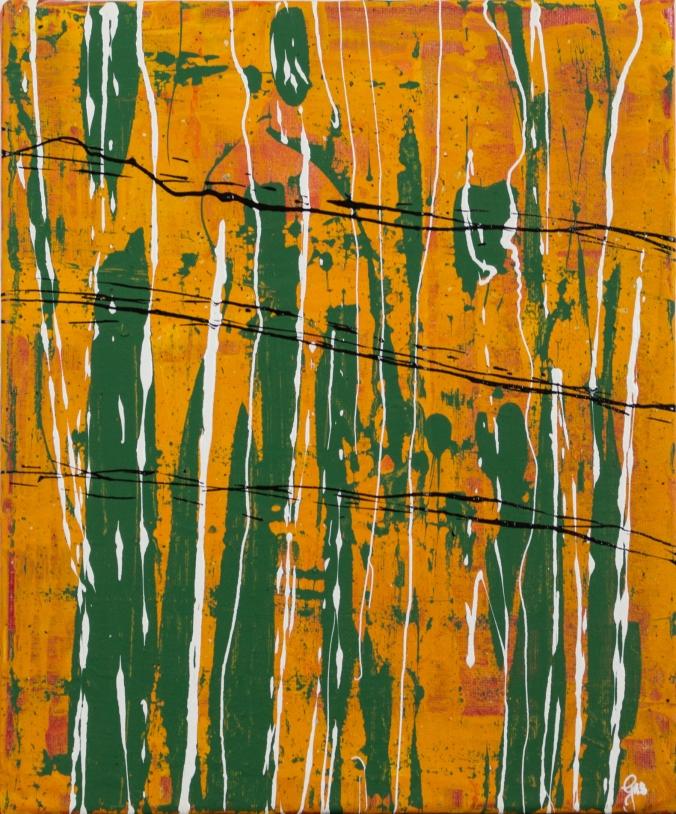 Waldspaziergang 24 x 30 cm Acryl und Lack 2013
