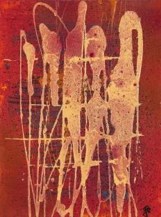 Shapes 24 x 32 cm Acrylic Lacquer 2012