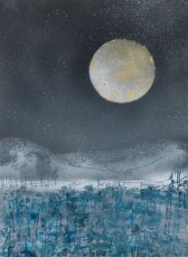 Golden Moon 30 x 40 cm Graffiti 2015