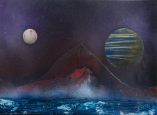 Lonely Mountain 40 x 30 cm Graffiti 2015