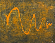 Orange Wave 48 x 36 cm Acrylic 2012