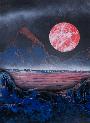 Red Moon 30 x 40 cm Graffiti 2015