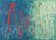 Red Wave 70 x 50 cm Acrylic 2011