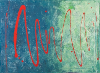 Red Wave 70 x 50 cm Acrylic 2011